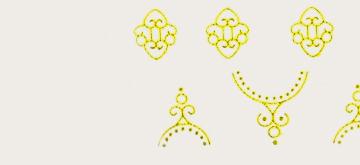 Abtibilde aurii si argintii
