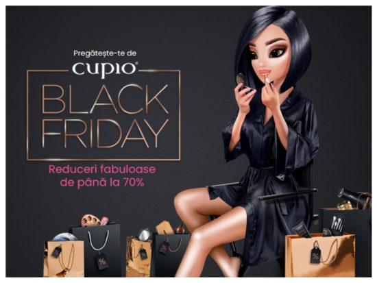 70% OFF! De Black Friday, cele mai mari reduceri le găsești în magazinele Cupio!