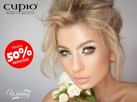 Află ultimele tendințe de Bridal Make-up și profită de reducerile Cupio, la Timișoara Wedding Market