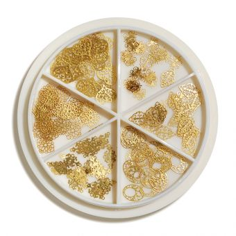 Carusel ornamente metalice Vintage Gold