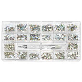 Cristale de unghii AB 1000 bucati