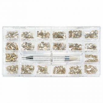 Cristale de unghii Crystal Clear 1000 bucati
