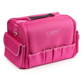 Geanta cosmetica cu buzunare roz