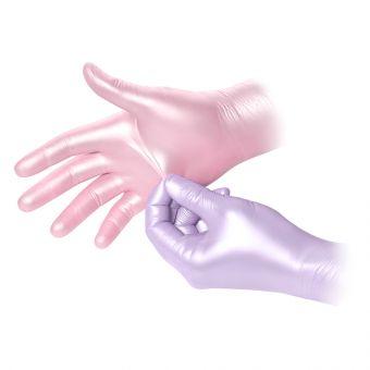 Manusi soft nitril nepudrate Glam Roz S 100 buc