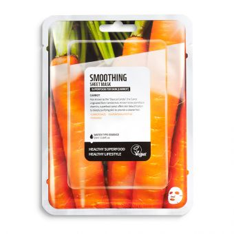Masca de fata pentru netezire cu morcov