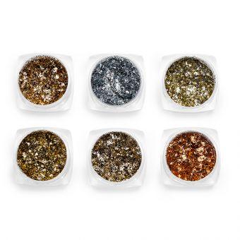 Pigmenti de unghii Flakes set 6 #38