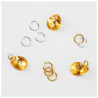 Piercing de unghii Tiny Treasures Metallic Sunshine 3 buc