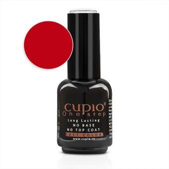 Gel Lac 3 in 1 Cupio One Step Red 15ml - R037