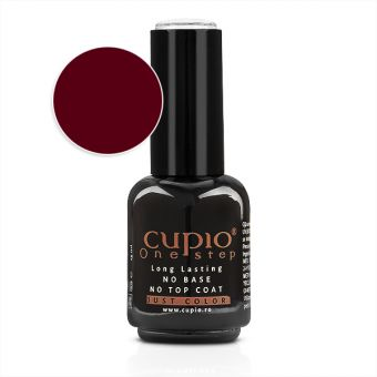 Gel Lac 3 in 1 Cupio One Step Dark Red 15ml - R061