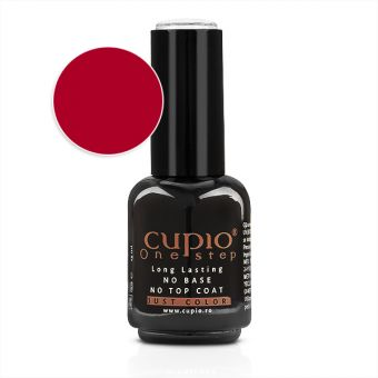 Gel Lac 3 in 1 Cupio One Step Deluxe Red 15ml - R123