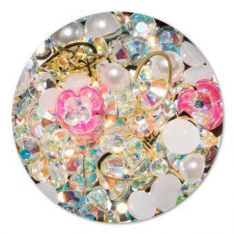 Ornament cristale, perlute si floare #1