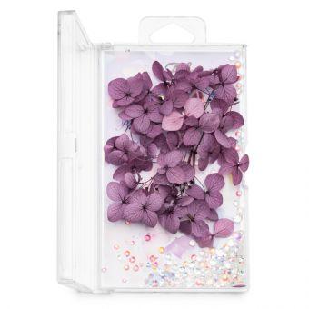 Flori decor de unghii cu cristale #10