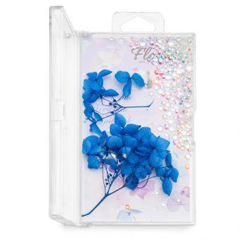 Flori decor de unghii cu cristale #11