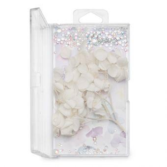 Flori decor de unghii cu cristale #12