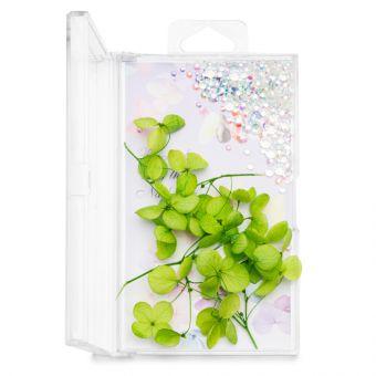 Flori decor de unghii cu cristale #01