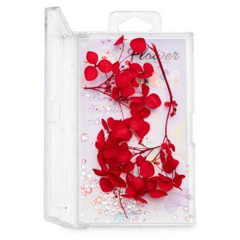 Flori decor de unghii cu cristale #04