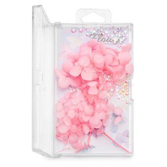 Flori decor de unghii cu cristale #05