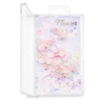 Flori decor de unghii cu cristale #08