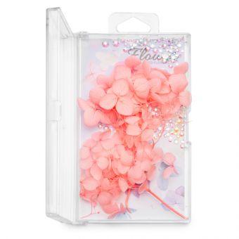 Flori decor de unghii cu cristale #09