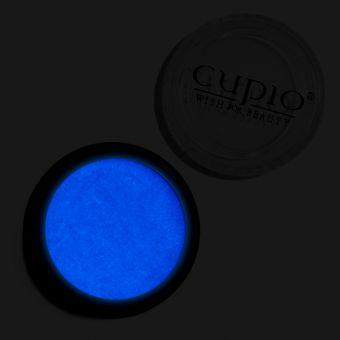 Pigment de unghii Night Glow Premium Albastru