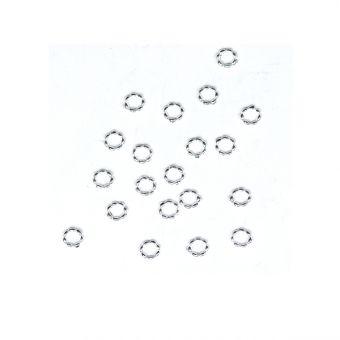 Set cerculete argintii 0.4cm