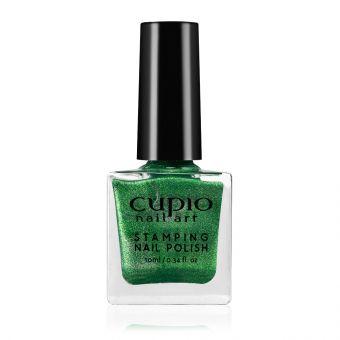 Lac de unghii pentru stampila Cupio Glitter Green 10ml
