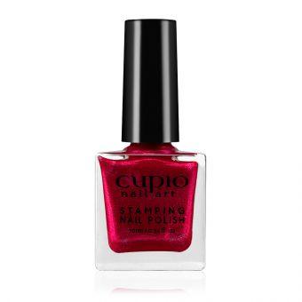 Lac de unghii pentru stampila Cupio Glitter Red 10ml
