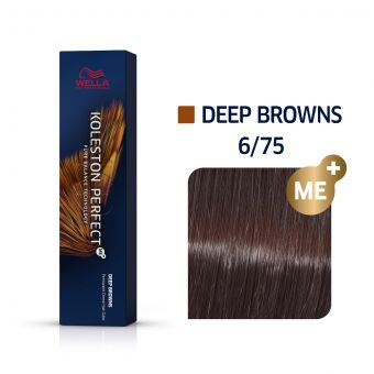 Vopsea de par Wella Professionals Koleston Perfect 6/75 Blond Inchis Maro Mahon