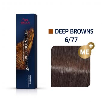 Vopsea de par Wella Professionals Koleston Perfect 6/77 Blond Inchis Castaniu Intens