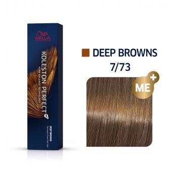 Vopsea de par Wella Professionals Koleston Perfect 7/73 Blond Mediu Castaniu Auriu