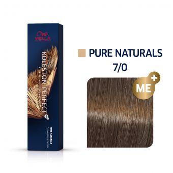 Vopsea de par Wella Professionals Koleston Perfect 7/0 Blond Mediu Natural