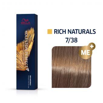 Vopsea de par Wella Professionals Koleston Perfect 7/38 Blond Mediu Auriu Albastrui
