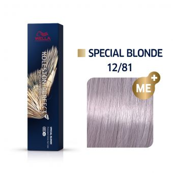 Vopsea de par Wella Professionals Koleston Perfect 12/81 Blond Special Albastrui Cenusiu