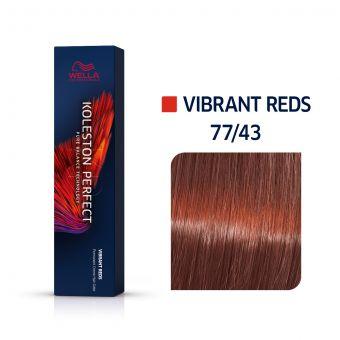 Vopsea de par Wella Professionals Koleston Perfect 77/43 Blond Mediu Intens Rosu Auriu