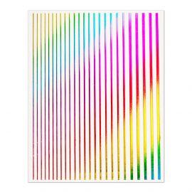 Abtibild unghii Metallic Rainbow Strips