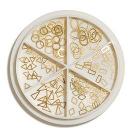 Carusel ornamente metalice Gold Shapes