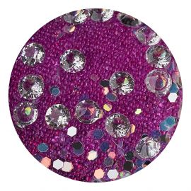 Decor unghii caviar, cristale clear si translucide #1