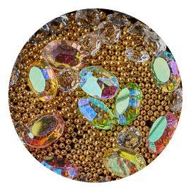 Decor unghii mix caviar si cristale #3