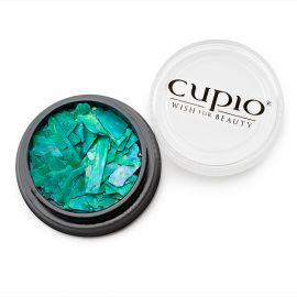 Decor unghii cu reflexii Verde