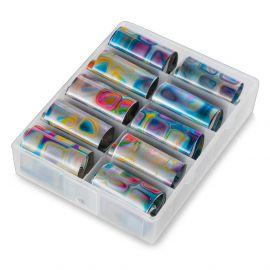 Folii de transfer set 10 Metallic Marbles