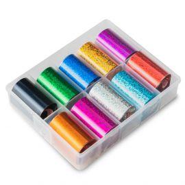 Folie de transfer set 10 Pixel Holographic Color