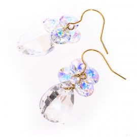 Cercei Swarovski Elements Golden Diamond