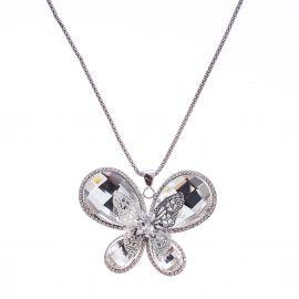 Lant Diamond Silver Butterfly