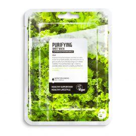 Masca de fata efect purificare cu kale