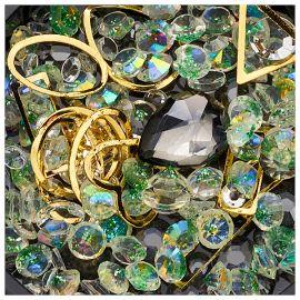 Ornamente mix margele, cristale si forme geometrice #09