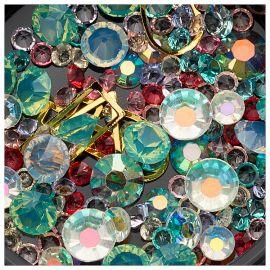 Ornamente mix margele, cristale si forme geometrice #26