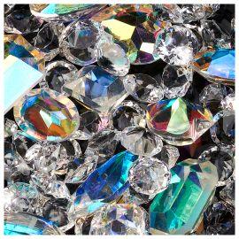 Cristale de unghii maxi clear
