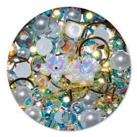 Ornament cristale, perlute si floare #4