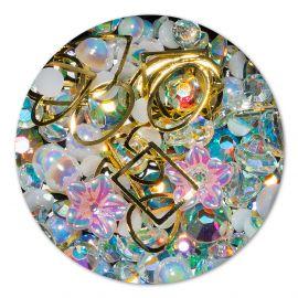 Ornament cristale, perlute si floare #6