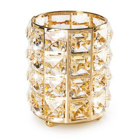 Suport pensule cu cristale - Gold